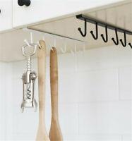 Kitchen Cup Holder Mug Hang Cabinet Shelf Organizer 6Hook scarf Storage Rack BT