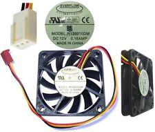 2.36inch/60mm*10mm Ball Bearing Fan Everflow R126010DM 12VDC/7~12V 3pin/wire ATX