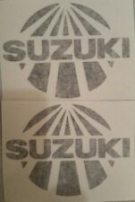 2 Suzuki sunrise stickers  TM RM RA RH RN 125 250 400 465 500 Works Old School