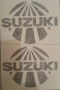 2 Suzuki sunrise sticker set TM RM RA RH RN 125 250 400 465 500 Works DeCoster