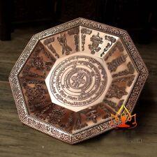 Buddha Tibet Tibetan Buddhist Eight Symbols Offering Fire Plate Bowl Vessel