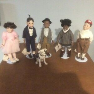 Little Rascals Porcelain Dolls Hamilton Collection