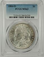 1884-O $1 MORGAN SILVER DOLLAR PCGS MS63 #38656209 - GREAT EYE APPEAL BU COIN!!!