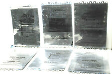 Vintage 1957+1958 Ford+Vauxhall+Mercury Ads Ink Duplicating Machine Foil Plates