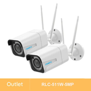 Reolink 2 Pack Refurbished 5MP Outdoor Wireless WiFi Security IP Camera RLC-511W