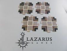 Warhammer 40K - Space Hulk Board Game Tiles: 4 4-Way Intersections (classic oop)
