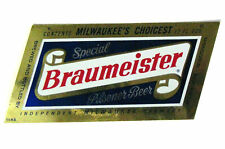 Independent Milwaukee Brewery BRAUMEISTER beer label WI
