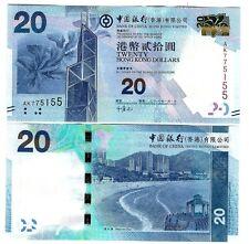 Hong Kong $20 bank of china 2010 UNC p 341
