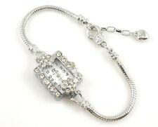 1pcs Charm Watch Bracelet Inlay Crystal Fit European Bead 20cm WP22