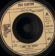"ERIC CLAPTON i shot the sheriff/give me strength 2090 132 uk rso 1974 7"" WS VG/"