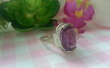 Beautiful Violet Cubic Zirconia Ring Real Sterling Silver 925 *Size 7.5 *E39