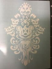 DISNEYLAND THE HAUNTED MANSION WALLPAPER WITH MICKEY JACK O LANTERN VINYL DECAL
