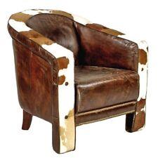 Echtleder Kuhfell Vintage Designsessel Wexford Clubsessel NEU Patina