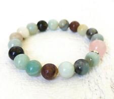 Gemstone spirituality Meditation pray 8MM Amazonite and Rose Quartz Bracelet