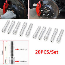 20Pcs/Set 58mm 14x1.25 to 12x1.5 Rim Wheel Conversion Adapter Bolts Studs Grand