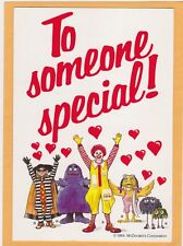 Advertising Valentine Postcard - McDonald's  Booklet Coupons
