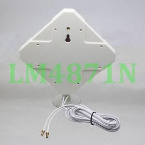 Broadband Antenna 35dB 3G 4G LTE TS9 Booster Signal Amplifier 6M Cable External