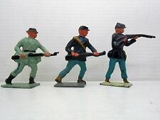7 VINTAGE LOT  3 JOHILCO LEAD FIGURES USA CIVIL WAR SOLDIERS CONFEDERADOS UNION