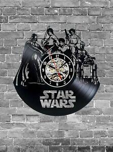 Darth Vader, Wall Clock, Vinyl Records Wall Clock, Wall Record Clock, Star Wars