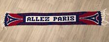 Écharpe PSG Allez Paris Saint Germain Foot Bon État Football Vintage Scarf