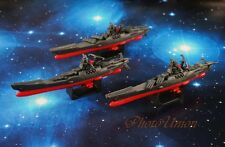 Space Battleship Yamato Star Blazers Cosmo Fleet Set 3 Figure Model A620 Hx3