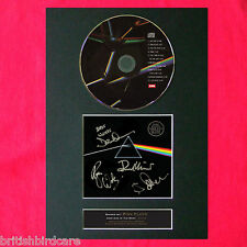 More details for pink floyd dark side of the moon rare signed cd mounted a4 autograph print (60)