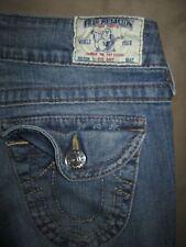 True Religion Size 28 Hi-Rise Boot Flap Pocket Light Blue Stretch Denim Womens