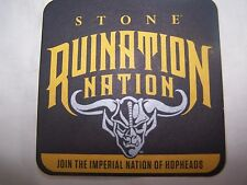 Stone Brewing Co. Ruination IPA Coaster ~ Escondido, CA ~ Gargoyle ~ LOOK! MINT