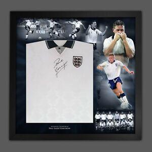 Paul Gascoigne England 1990 Signed Football Shirt In An Amazing Frame Display
