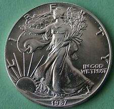 1987 BU American Silver Eagle Dollar Uncirculated ASE US Mint Bullion Coin
