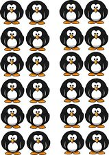 Penguin Edible Cupcake Wafer Paper Toppers x 24