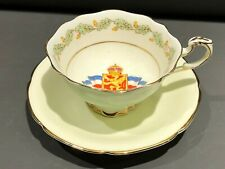 Paragon China Double Warrant Tea Cup & Saucer Queen Mary Patriotic Series
