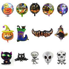 👻HALLOWEEN FOIL BALLOONS Pumpkin Ghost Bat Witch Boot Cat Skull Spider Party👻