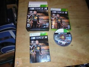 NASCAR 14 (Microsoft Xbox 360, 2014) Rare Fat Box set With Car!!