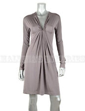 JUST CAVALLI BY ROBERTO CAVALLI DRESS LONG SLEEVE GRAY JERSEY IT 46 US 10