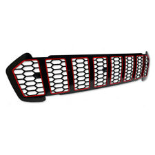 Front Black Red Grill Grille Trim For Ford Ranger T6 Pickup MC 2015 2016 2017