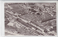 RARE VINTAGE POSTCARD TAUNTON GWR RAILWAY STATION FROM THE AIR, SOMERSET
