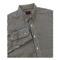 Mens UNTUCKit Shirt Large Slim Fit Blue Gingham Check Dress Button Up Casual