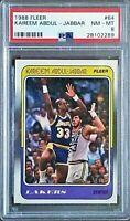 1988 Fleer Basketball Kareem Abdul-Jabbar #64 PSA 8 NM-MT!🔥📈