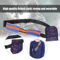 Tactical Waist Shoulder Strap Bag Gun Darts Bullet Belt Pouch For N-strike