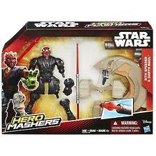 "Darth Maul ( 6"" ) Vhtf Star Wars ( Mashers ) Action Figure & Sith Speeder Hasbro"