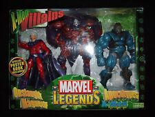 Marvel Legends Toybiz Custom 3Pk..Magneto, Apocalypse & Onslaught..w/package