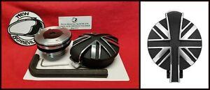 Motone UNION JACK CONTRAST Black Polished Monza Gas Cap Kit HARLEY & TRIUMPH