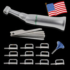 4:1 Reduction Dental Contra Angle IPR Handpiece +10*Interproximal Strips Kit xf1