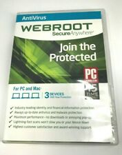 Webroot SecureAnywhere AntiVirus 3 Devices 1Year Protection #1040
