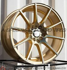 18X9.5 +20 F1R F17 5x114.3 GOLD RIMS Fit Mitsubishi Lancer Evolution Evo 8 9 x