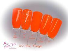 Vernis Semi Permanent n°107  néon orange fluo 7ml NAILITY Gel polish  0,23 Fl oz