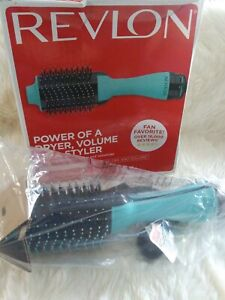 Revlon One-Step Hair Dryer & Volumizer Hot Air Brush RVDR5222MNT Turquoise Blue