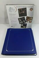 Blue Creative Memory 12 x 12 Photo Album + Black Refill Pages New Scrapbooking