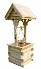 Shine Company 4986N Decorative Wishing Well - Natural NEW